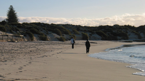 A walk on a Rottnest beachl