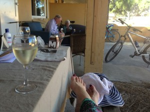 Chillaxing with wine
