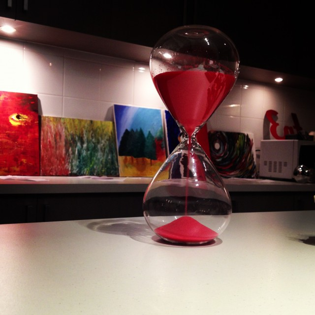 Egg timer at art night