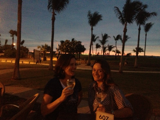 Sunset drinks in Broome